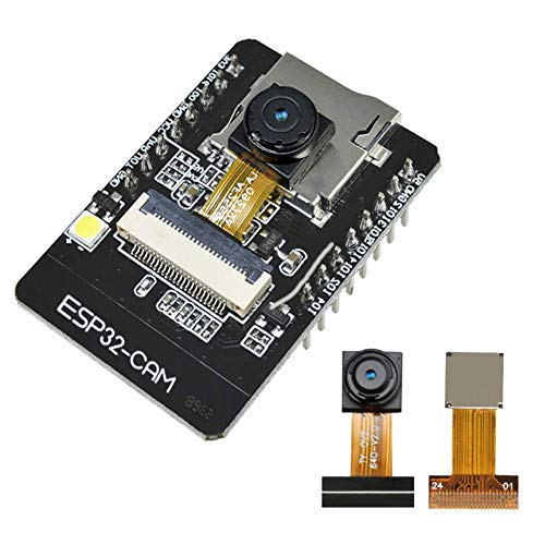 KeeYees 1 Set ESP32-CAM Camera WiFi + Bluetooth Module 4M PSRAM Dual-core 32-bit CPU Development Board with OV2640 2MP Camera Module Support Image WiFi Upload