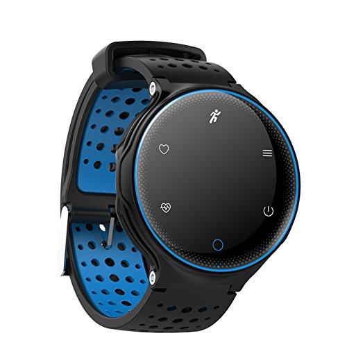 Hombre Smartwatches,Multifunción Reloj Deportivo Resistente al Agua 30 m Vida Luminoso Aire Libre Relojes Digitales Estudiante Niño contra la pérdida Anillo de Micro-C