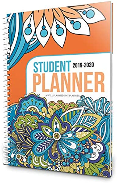 精心策划的日学生计划员令人眼花缭乱的涂鸦 2019年7月 2020年6月