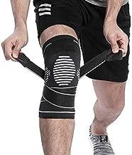 BERTER Knee Brace for Men Women - Compression Sleeve Non-Slip for Running, Hiking, Soccer, Basketball for Meniscus Tear Arthritis ACL Single Wrap (Update Compression Straps Version, Large)