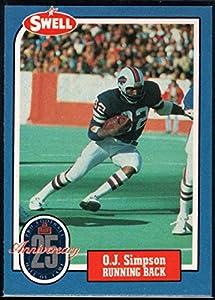 Football NFL 1988 Swell Greats #4 O.J. Simpson Bills