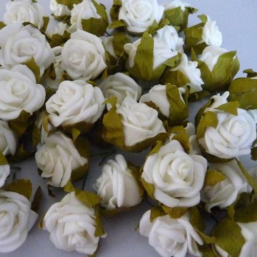 50x Rosenblüten Rose Hochzeit Streudeko Haarschmuck