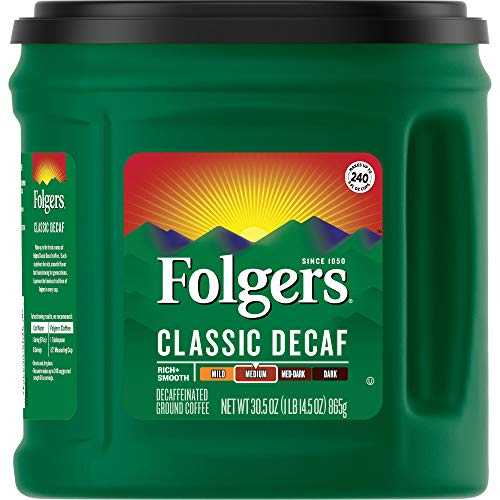 Folgers Classic Decaf Medium Roast Ground Coffee, 30.5 Ounces