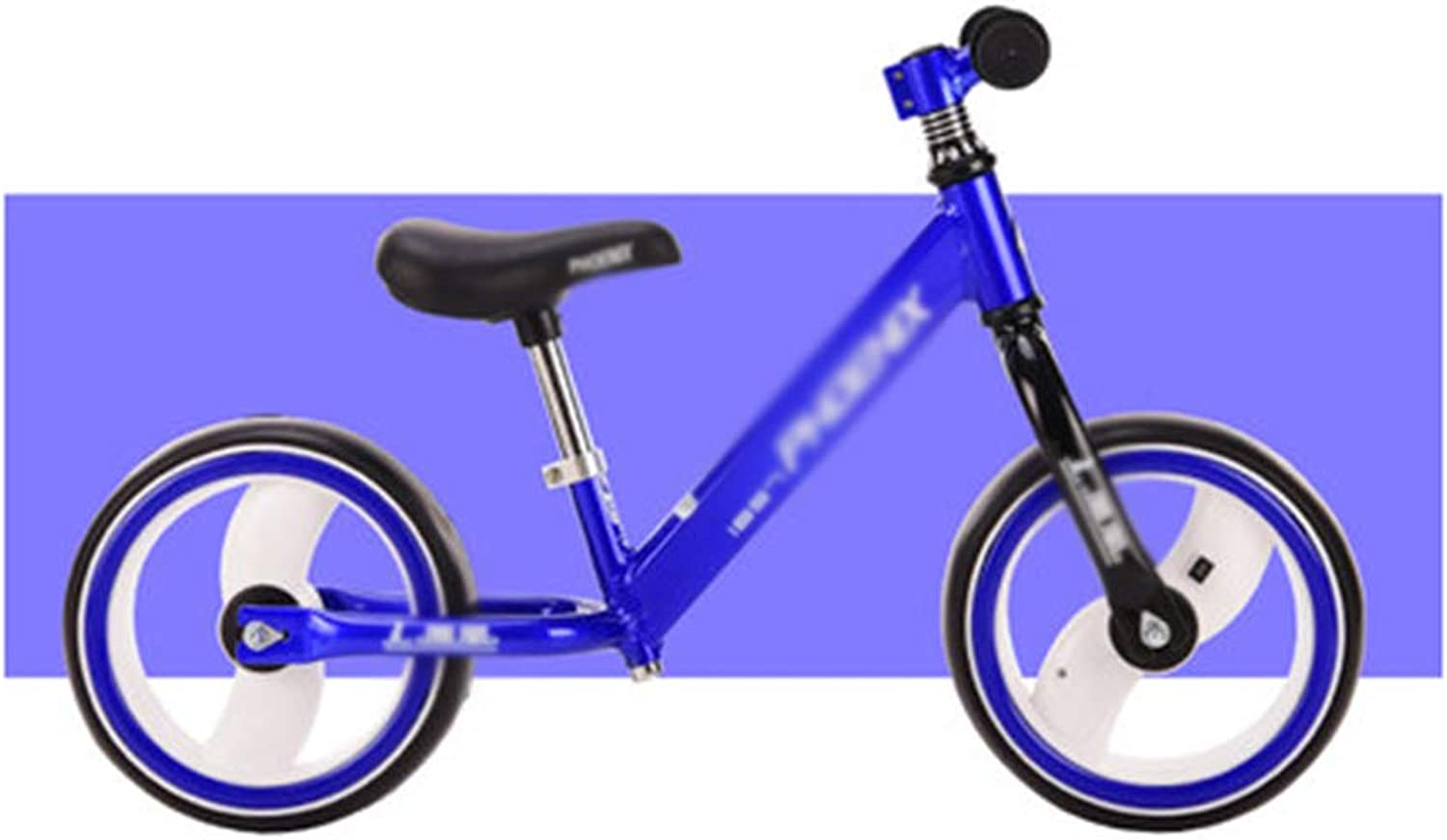 Balance Bikes Kids - Lightweight No Pedal Toddler bicycle with Adjustable Seat,Ages 2 to 6 Years - Wheel light (not including 2A battery)
