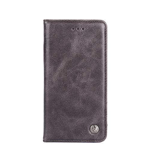 Hongjian Funda para ASUS ZenFone Max Pro M2 ZB631KL, ZB630KL, ASUS_X01BDA.Flip Magnetic Buckle, Double-Layer Card Holder, Stand for Viewing Movies, Leather, Leather, TPU Silicona Sleeve Case Cover 3