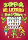 SOPA DE LETRAS: Para Niños 6-10 años | Juegos Educativo | 60 Puzzle- 600 Palabras- 8 temas |Para...