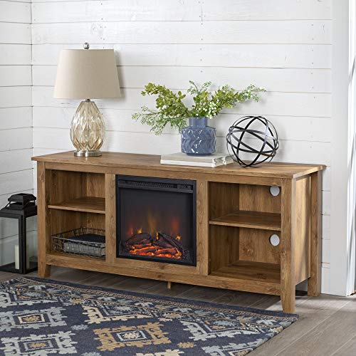 Home Accent Furnishings Lucas 58 Inch Television Stand with Fireplace Insert in...