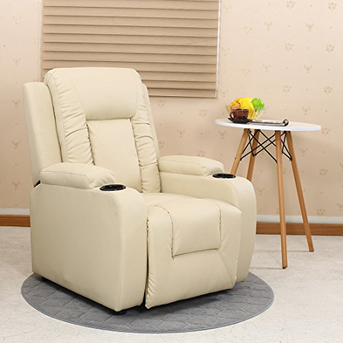 More4Homes OSCAR BONDED LEATHER RECLINER w DRINK HOLDERS ARMCHAIR SOFA CHAIR RECLINING CINEMA...