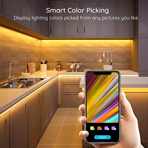 Govee 65.6 Feet Led Strip Lights Work with Alexa and Google Assistant RGB for Bedroom Kitchen 7