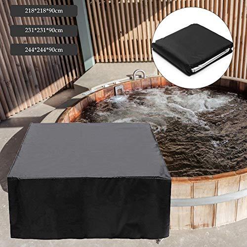 Onlyonehere Cover Rechteckige Allwetter Garten Whirlpool Abdeckung, Schutz Vor Wind UV Schützende Rechteckige Outdoor Whirlpool Spa Abdeckung