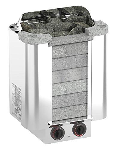 SAWO CUMULUS 9,0 kW Elektrische Saunaofen; mit integrierte Steuerung (NB-Modell); Multispannung: entweder Einphasig oder 3-Phasig; Edelstahlgehäuse mit Speckstein vorne