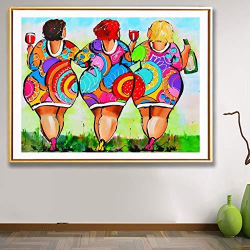 AJleil Puzzle 1000 Piezas Imagen de decoración de Mujer Gorda Sexy de Dibujos Animados Puzzle 1000 Piezas Adultos Rompecabezas de Juguete de descompresión intelectual50x75cm(20x30inch)