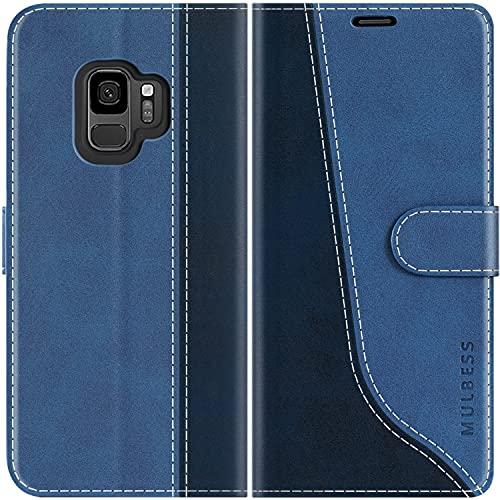 Mulbess Custodia per Samsung Galaxy S9, Cover Samsung Galaxy S9 Libro, Custodia Samsung Galaxy S9 Pelle, Flip Cover per Samsung Galaxy S9 Portafoglio, Diamante...