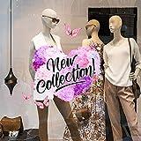 kina UVNC0059 Vetrofania Nuova Collezione Primavera - Misura 40x30 cm - Vetrine Negozi per Nuova Collezione, Stickers, Adesivi murali