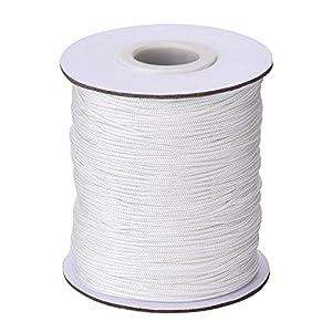 1.0 mm Cordón Blanco Trenzado de Cortina de Elevación para Persiana de Aluminio, Planta de Jardinería y Manualidades, 109 Yardas/Rollo