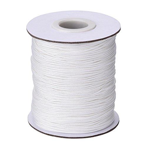 1.0 mm Bianco Intrecciato Ascensore Ombra Cord per L'Alluminio Non Vedenti Ombra, Giardinaggio Piante e dell'Artigianato, 109 Yard/Rullo
