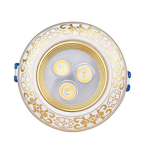 Wddwarmhome Rétro projecteurs Led céramique couloir lampe 3W plafond lampe Downlight 2pcs