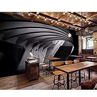 xueshao 壁紙カスタム大ハイエンド壁紙3DステレオタイムトンネルチャンネルバーKtvレストランの背景壁紙-200X140Cm