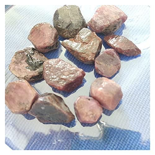 YSJJSQZ Cristal áspero Rubí Natural Corundo Rojo Rubí de rubí en Bruto Espécimen de Piedras Preciosas Curación Cristal DE Cristal DIY JOYERÍA (Color : 16 20g, Size : 1 4cm)
