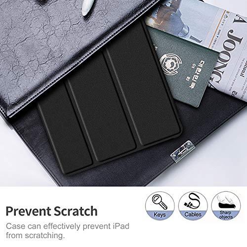 IVSO Hülle für Lenovo Tab M10 FHD Plus 10.3, Ultra Schlank Slim Schutzhülle Hochwertiges PU mit Standfunktion Perfekt Geeignet für Lenovo Tab M10 FHD Plus (2nd Gen) 10.3 TB-X606F, Schwarz
