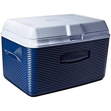 Rubbermaid Ice Chest / Cooler, Blue, 34-quart (FG2A2002MODBL)