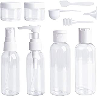 Invero 10 Piece Travel Size Bottle Container Liquid Toiletry