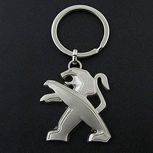 dfgjdryt 3D Hohl Serie Auto Logo Schlüsselanhänger Schlüsselring Ring Schlüsselring Schlüsselanhänger für Peugeot - Groß