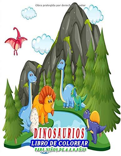 Dinosaurios Libro para colorear para niños de 4 a 8 años: 30 dibujos realistas de dinosaurios para niños y niñas , dinosaurio mágico dinosaurio para colorear niño