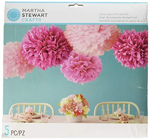 Martha Stewart Crafts Pom Poms, Pink, 2 Sizes