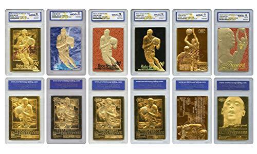 Kobe Bryant Mega-Deal Licensed ROOKIE Cards Graded Gem Mt 10 (SET OF 6) MUST SEE