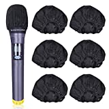 BILIONE Disposable Microphone Covers, Total 270 Pcs Black Clean Non-Woven Fabrics Mic Covers