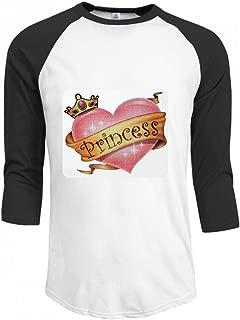 プリンセスクラウンピンクハート Men Raglan Sleeve T-Shirt メンズ Tシャツ