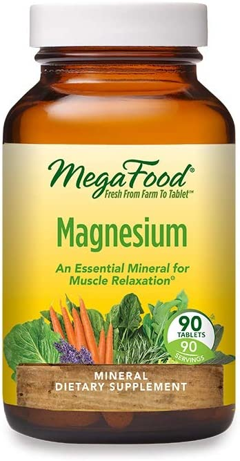 MegaFood, Magnesium, Helps Maintain Nerve and Muscle Function, Essential Mineral Dietary Supplement, Gluten Free, Vegan, 90 Tablets: Health & Personal Care