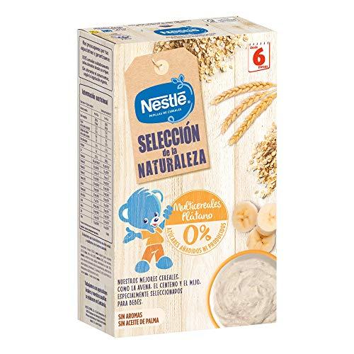 Nestlé Selección De La Naturaleza Papilla Multicerales Plátano, A Partir De Los 6 Meses- Pack de 6 estuches 330 g
