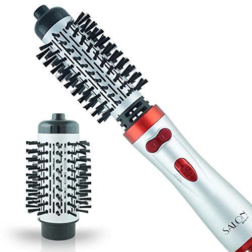 Salon Beauty Perfect Heat Large 2 inch  15quot Inch Interchangeable Tourmaline Ceramic Ionic Rotating Hot Styler Spin Soft Bristle Long Hair Brush HM26000