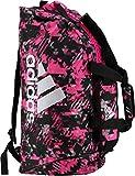 adidas Combat Sports - Bolsa 2 en 1 para Mujer, Talla M, Color Rosa y Plateado