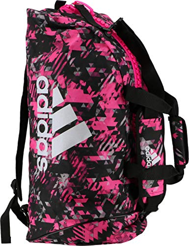 adidas Damen 2in1 Bag Combat Sports Tasche, Pink Camo/Silber, M