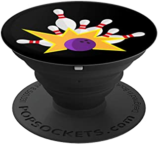 Bowling Strike Pins Hobby Bowler PopSockets Grip and Stand for Phones and Tablets