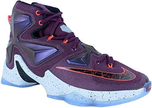 Nike Herren Lebron XIII Basketballschuhe, Pink Schwarz Silber Lila Maulbeere Blk Pr Pltnm VVD Prpl, 47.5 EU