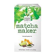 Good Earth Green Tea Bags, Matcha Maker, 18 Count (Pack of 6)