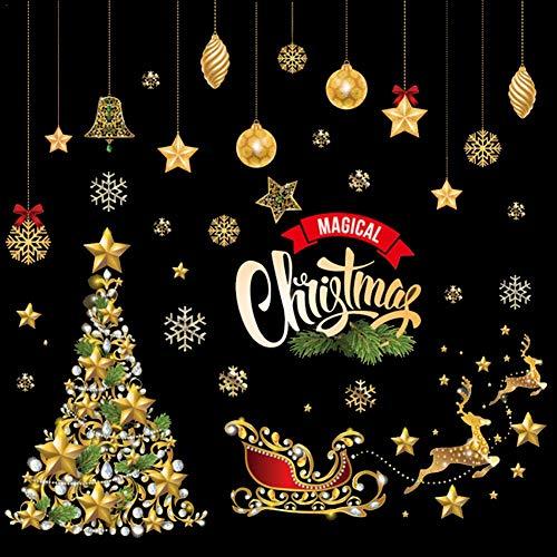 Elementral Fai da Te Buon Natale Adesivo murale Finestra Mobile Decalcomania per Vetro Babbo Natale...