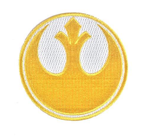 Super6props Star Wars Rebel Alliance Goldgeschwader gesticktes Eisen auf Patch Crew Uniform Patch für Cosplay, Kostüm und Kostüm 75mm