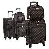 SNOWBALL - Lot de trois valises SMARTH + Vanity/Case - Marron Foncé