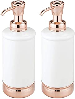 mDesign Refillable Liquid Hand Soap Dispenser Pump Bottle for Kitchen, Bathroom | Also Can be Used for Hand Lotion & Essen...