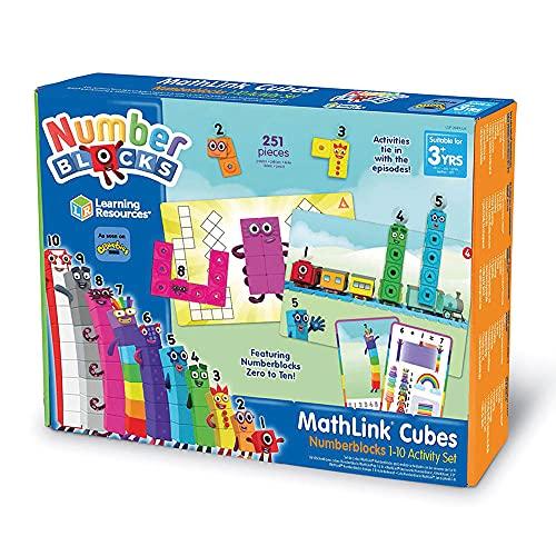 Learning Resources Set de Actividades con Numberblocks Cubos MathLink del 1 al 10, Aprendizaje de matemáticas para Edades tempranas, construye, aprende y Juega en el Aula y casa, niños de 3+ años