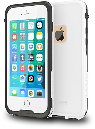 CellEver iPhone 6 / 6s Case Waterproof Shockproof IP68 Certified SandProof SnowProof Full Body Protective Cover Fits Apple iPhone 6 and iPhone 6s (4.7') - (White)