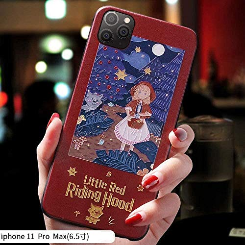 2P Creative 3D Embossed Relief Mobile Phone Case for iPhone 6/7/8/11/max Pro,red hat,iPhone7/8