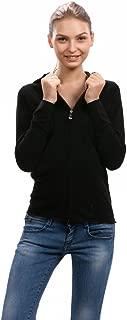 Zip Hoodies for Women - 100% Cashmere