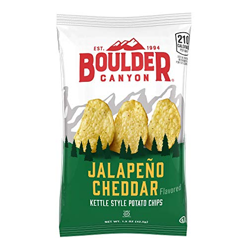 Boulder Canyon Jalapeno Cheddar Kettle Chips, 1.5 Ounce | 10 Count