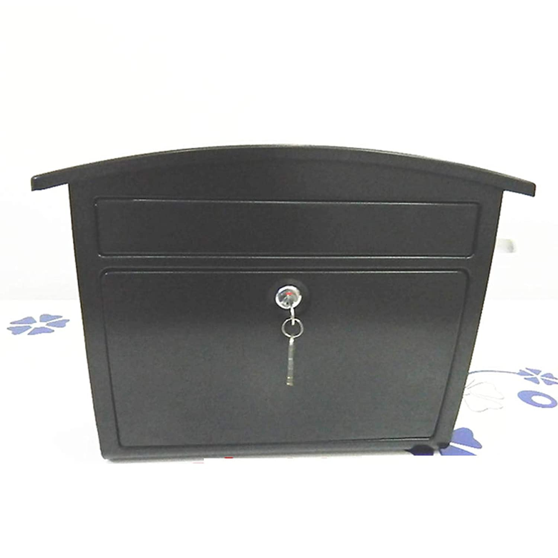 RMJAI メールボックス 鋼鉄ローディングの防水郵便箱のレターボックスの壁に取り付けられたロックできる手紙のポスト箱 - 33.5 * 37 * 16cm